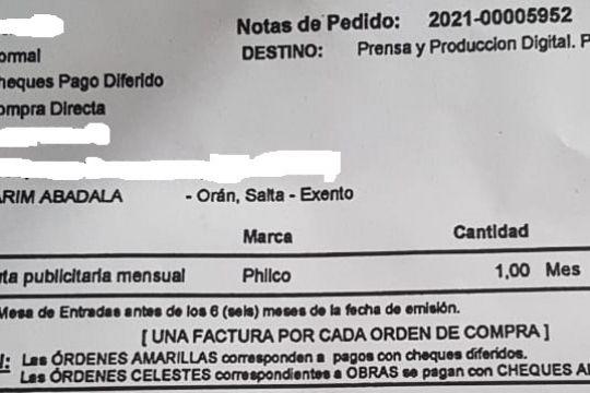 Orán: Compra de Opiniones!!! 250.000 pesos para una radio de la CIUDAD