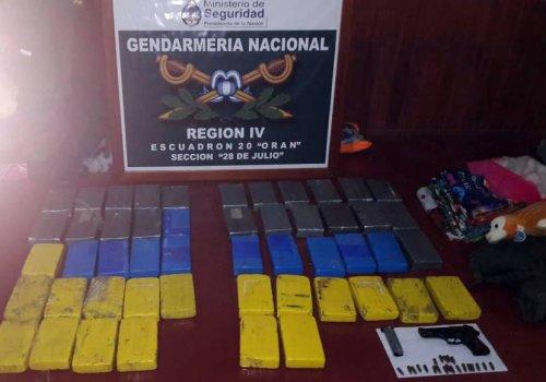 Mas de 52 kilos de cocaína en la frontera