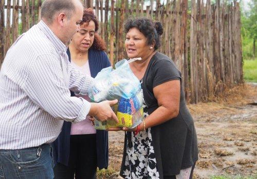 Asistencia a municipios afectados por las intensas lluvias