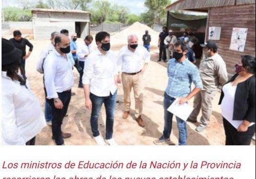 Se supervisó el avance de obra en establecimiento educativos del departamento San Martín